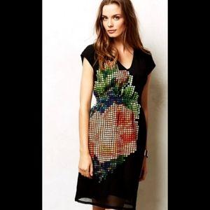 Anthropologie Pankaj & Nidhi Geometic Dress